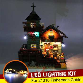 Kit de iluminación LED USB solo para LEGO 21310 para La cabaña del pescador, tienda de pesca, bloques de construcción, ladrillos de juguete (no incluye el modelo)