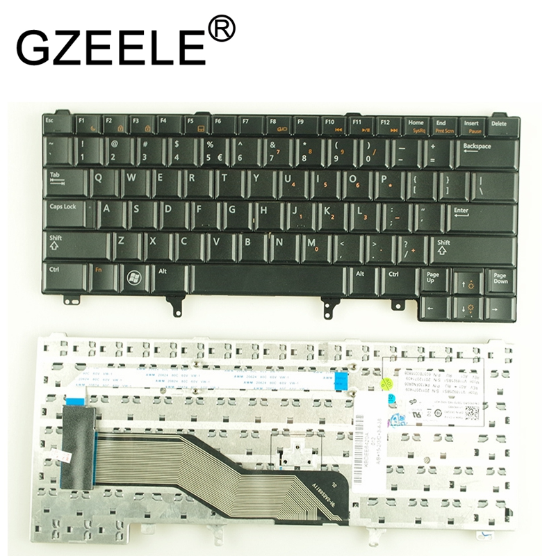 GZEELE New US <font><b>keyboard</b></font> for <font><b>Dell</b></font> <font><b>Latitude</b></font> <font><b>E5420</b></font> E5430 E6320 E6330 E6430 English without Point Stick image