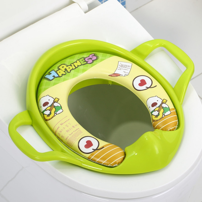 Blue Yellow Red White Cute Cartoon Baby Travel Potty Children's Urinal Trainer Kids Training Toilet Seat Covers 0-6Y(China)