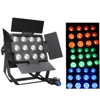 Professional lighting 12pcsx15W 3 in 1 rgb led waterproof par wash light led wall washer dmx stage lighting for night club