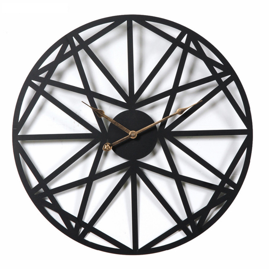 Big Wall Clock Vintage Modern Design Living Room Large Decorative Wall Clocks Iron Hanging Watch Home Decor Silent 20 inch gold metal duvar saati
