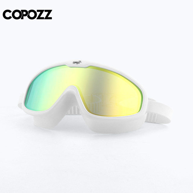 0412f49736d4 COPOZZ 2018 Anti-fog Swimming Goggles Whole Shaped Lens UV Protection with  Big Silicone Frame Swimming Glasses for Men and Women