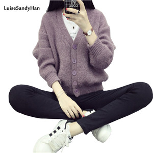 2016-autumn-and-winter-new-arrival-colors-women-sweater-plus-size-v-neck-knitted-cardigan-