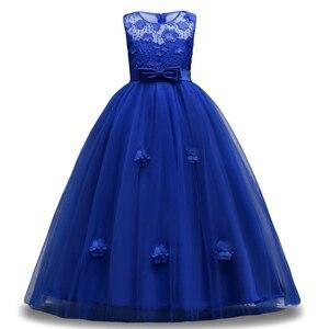 Image 1 - 女の子夏7 8 9 10 11 12年ウェディングフラワーガールズドレスための子供パーティードレス子供衣装服