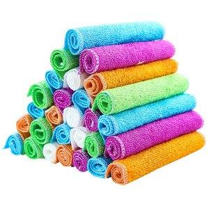 Image 4 - Ultra feine natürliche bambus faser gericht handtuch/keine lint Öl frei gericht tuch/bambus holzkohle zu öl rag23 * 18