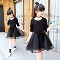 Girl Dress Black Baby Girl Long-Sleeved Clothes Spring 2017 Princess Kids Dresses For Girls infantil Kid Clothes