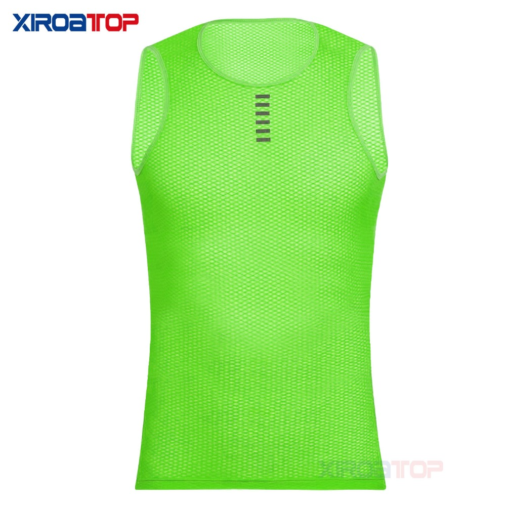 New hot sale 2018 Cool Mesh Superlight Underwear Vest Cycling Base Layers Bicycle Sleeveless Shirt Highly Breathbale Bike Jersey