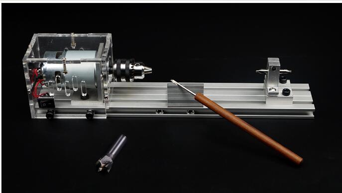Mini DIY Woodworking Lathe Micro Beads Lathe Polishing Cutting Mini drill Rotary tool Beads ...