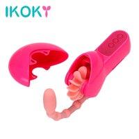 IKOKY Brinquedos Língua Para As Mulheres Elétrica Boquete Sexo Oral Anal Beads Vibradores Lambendo Clitóris Estimulador Adulto Produto