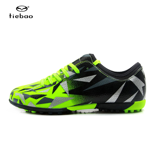c9ae80d34 TIEBAO Soccer Shoes TF Turf Soles Breathable Outdoor Sneakers For Men  Football Training Boots Chuteira Futebol