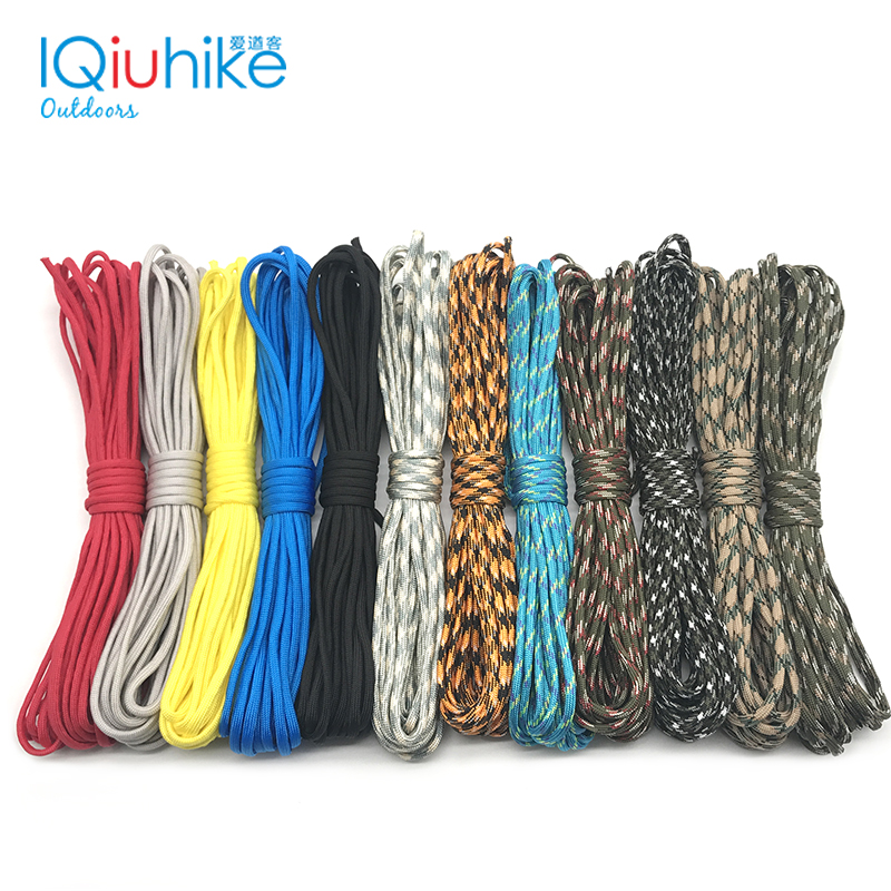 Iqiuhike Paracord 550 Rope Survival-Kit 100FT III 50FT 208-Colors 7-Stand DIY Wholesale