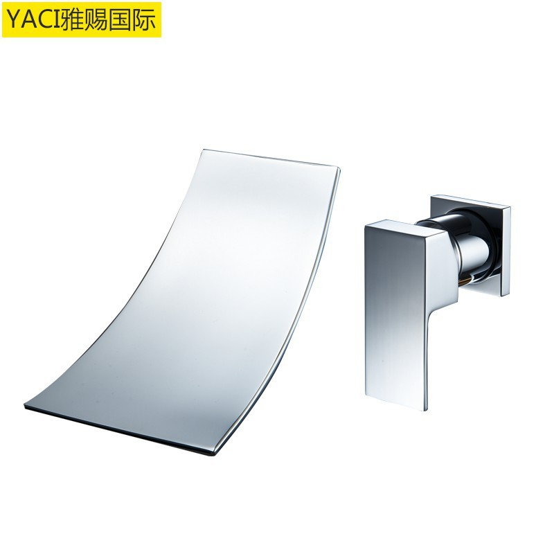 Vidric New Concealed Wall Faucet Copper Waterfall Faucet Copper Basin Faucet