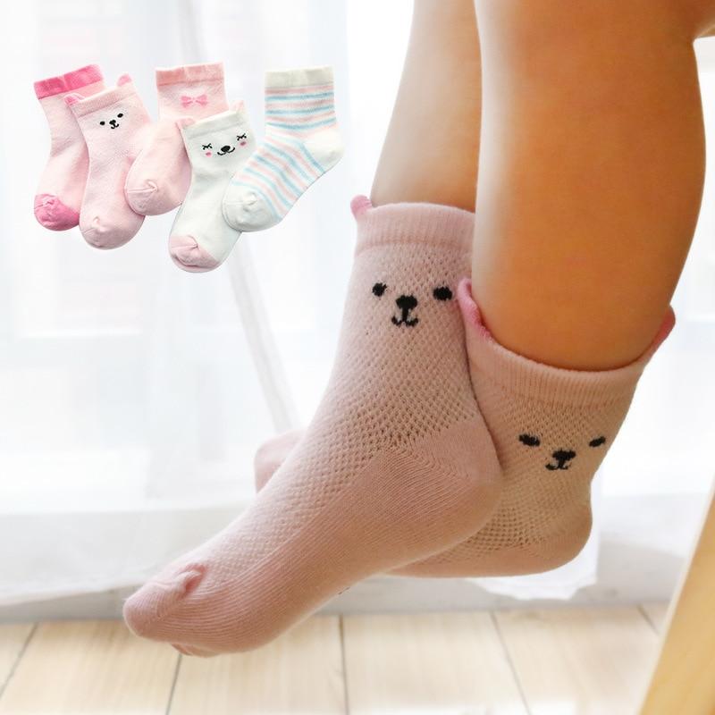 ZIKA Baby Socks Newborn 2018 1 Pair Mesh Spring and Autumn thin Section Cartoon Cotton Socks for Children Baby Stuff Short Sock