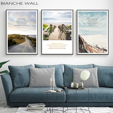Tourism Road Landscape Life Inspirational Canvas Posters Minimalist Print Wall Art Painting Nordic Decoration Pictures