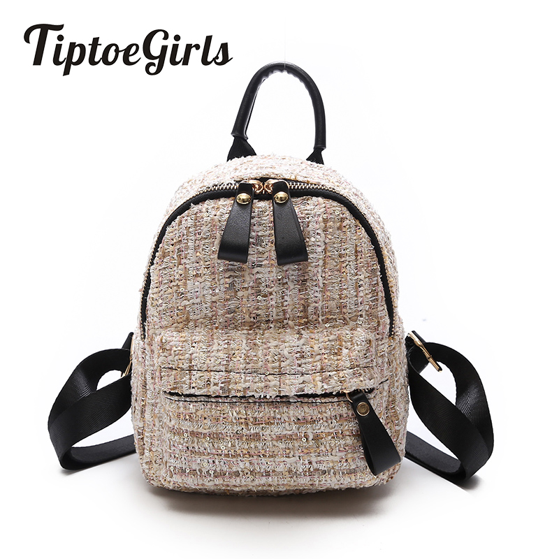 Mini Shoulder Bag New Female Fashion Wild Woolen Multi-Purpose Leisure Travel Bag Ms. Small Backpack