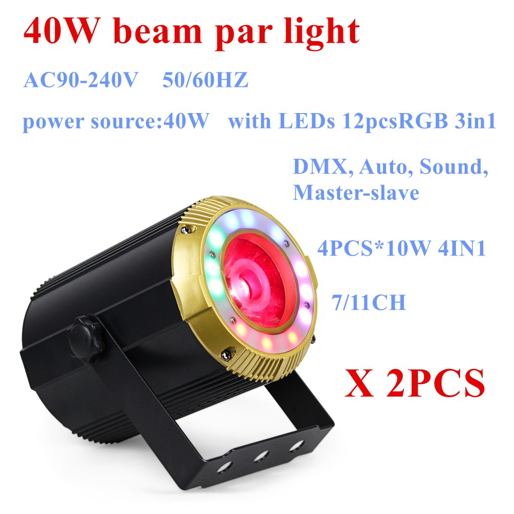 2PCS/LOT free shipping 40W LED Beam effect par light and wash effect with SMD led par light for DJ home party and event club hypoglycemic and hypolipidemic effect dillenia indica fruit and bark