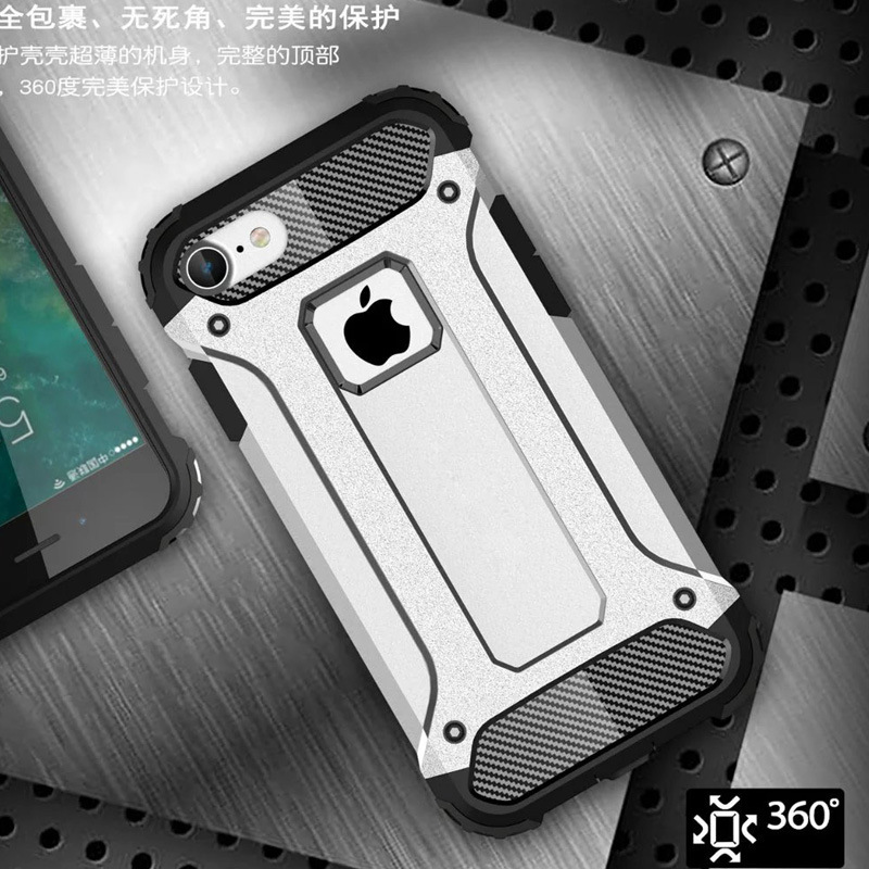New For Apple iPhone SE 5 5S / 6 6S / 6 Plus 6S Plus 7 7 Plus Slim Armor Anti-Shock Silicone Hybrid Hard PC Phone Case Cover