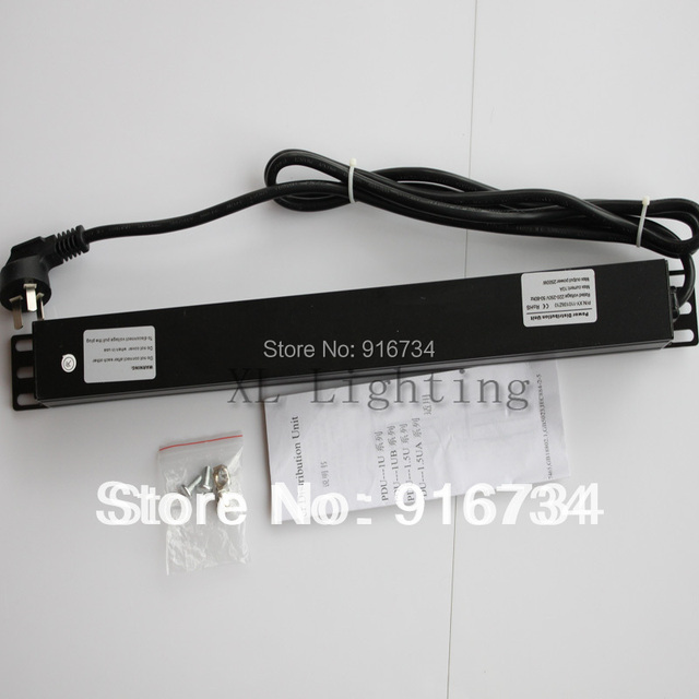 8 Outlet Switched 1u 10a 100 250v Rack Mount Pdu Power Strip Surge Protector For Cabinet