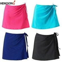Женские спортивные юбки трапециевидной формы с завышенной талией для девушек, Женская юбка для тенниса, юбки для йоги, бега, на шнуровке, бандажные спортивные юбки, женский спортивный костюм