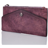 2017 New Designer Vintage Luxury Genuine Leather Women Multifunctional Cow Leather Lady Purse Clutch Wallet Long Envelope Bag