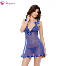все цены на Women sexy Lingerie Nightwear Underwear Sleepwear BabyDoll Halter Dress G-string Bowknot Night Sleep dress  онлайн