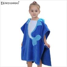 Retail 2018 Baby Boy Girl Hooded Christmas Poncho Kids Bath Towel Cartoon  Animal Swimming Bathrobe Cotton Children s Beach Towel b3e88f135