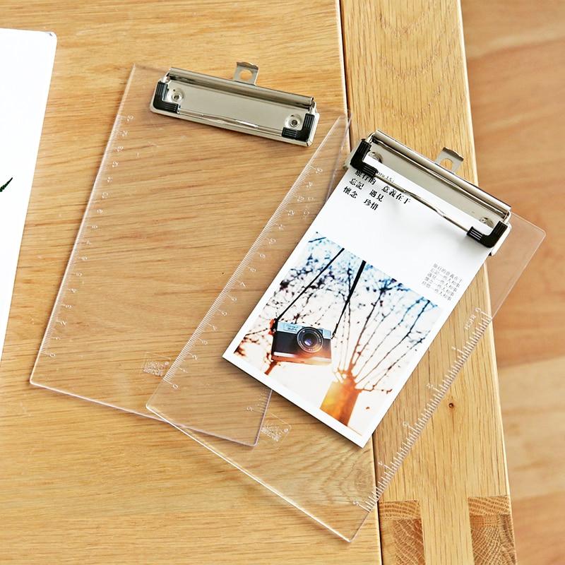 MIRUI A5 small transparent writing folder board test paper clipboard plastic office stationery|Clipboard| |  - title=