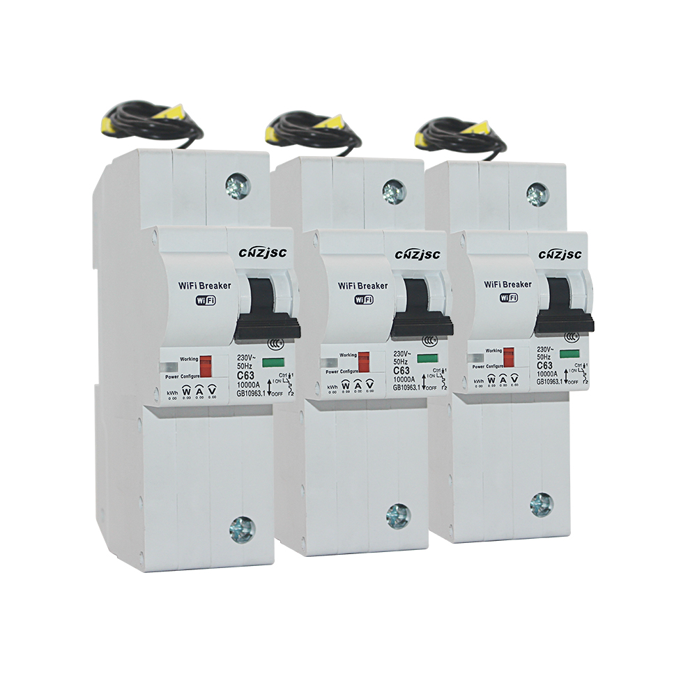 3PCS The second generation 1P WiFi Smart Circuit Breaker with Energy monitoring compatible with Alexa and