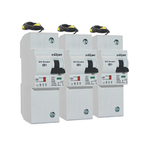 3PCS The second generation 1P WiFi Smart Circuit Breaker with Energy monitoring compatible Alexa and Google for home