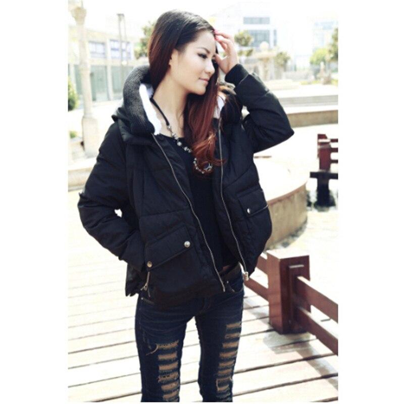 AILOOGE 2017 Fashion Down Jacket Women Winter Coat Fashion Thick Lady White Duck Down Garment With Hood Warm Black Green Beige