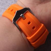 Ремешок для часов 12 мм 14 мм 16 мм 18 мм 19 мм 20 мм 22 мм 24 мм черный белый красный оранжевый синяя силиконовая резина Diver для ремешка часов водонепр...
