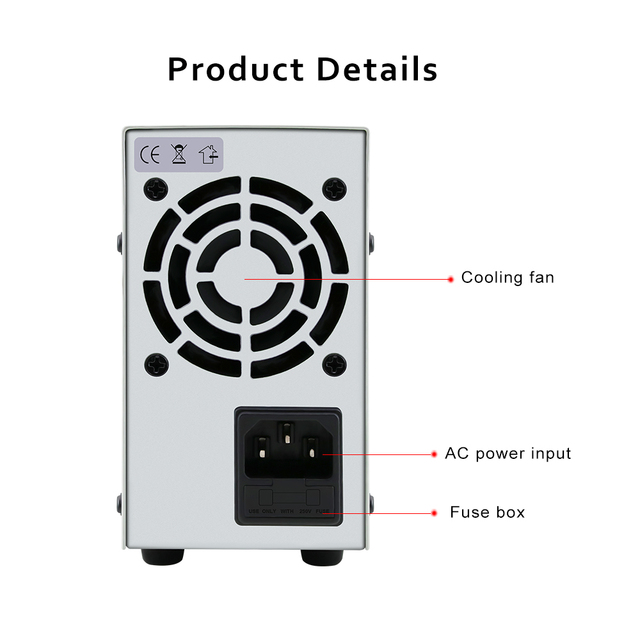 60V 5A 220V Digital Switching DC Power Supply Adjustable Variable Precision Lab AC/DC Adapters