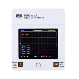 Tela Sensível Ao Toque TFT Mini Digital Oscilloscope DSO 112A Interface USB Osciloscópio Portátil 2 MHz 5 Msps