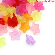 DoreenBeads 800 шт. Матовые акриловые бусины смешанных цветов 10x4 мм (B12046), yiwu