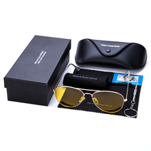 a19d2c06f4f Clear HD Night Vision Sunglasses Polarized For Man Driving Vintage Male  Pilot