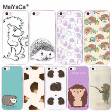 MaiYaCa Cartoon Hedgehog for iPhone 4S SE 5C 5S 5 6 6S 7 8 Plus X XR XS MAX Phone Cases transparent Soft TPU Cover Cases(China)