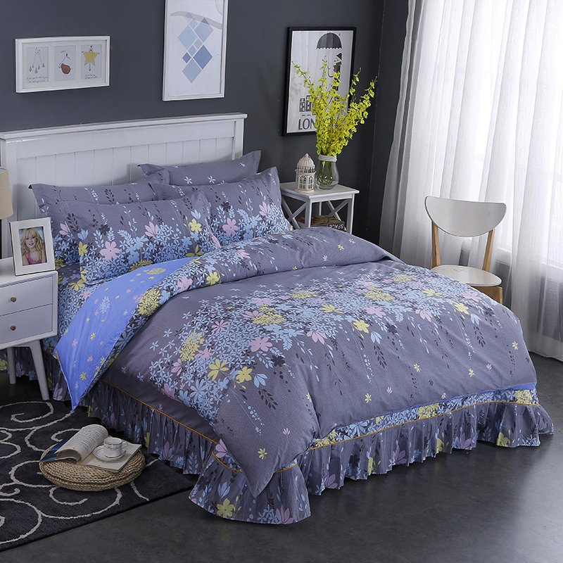 High Quality New Style Elegant Style Cotton Printed Pattern Bedding Duvet Covers Comfortable And Breathable Bedding ...