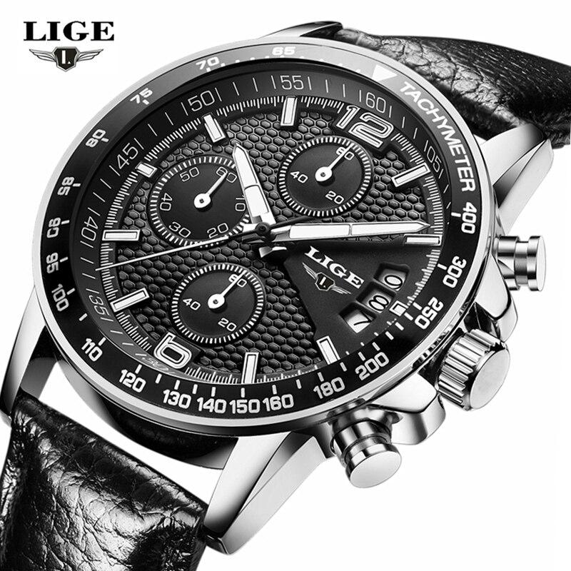 LIGE Reloj Hombre Mens Watches Brand Luxury Men Military Sport Wristwatch Quartz Watch Multi-function Clock relogio masculino lige horloge 2017