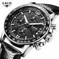 LIGE Hombre Reloj Para Hombre Relojes de Marca de Lujo de Los Hombres Del Deporte Militar Reloj de pulsera de Reloj de Cuarzo multifunción Reloj relogio masculino