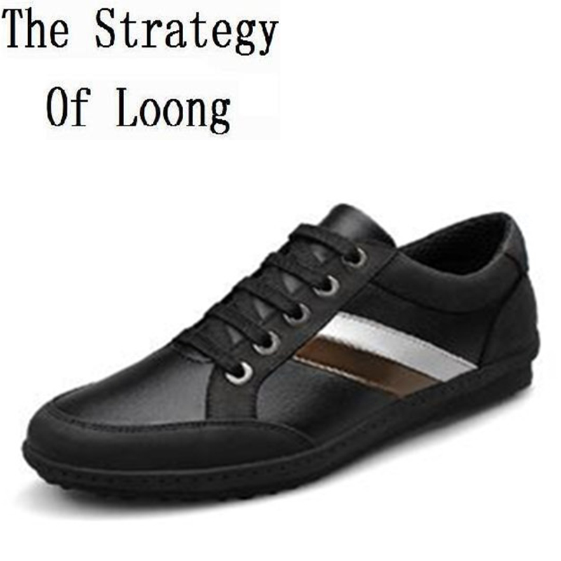 Genuine Leather Men Shoes 2016 New Arrival Fashion Comfortable Low Calf Man Sneakers Casual Men Shoes Plus Size 45 161114 genuine leather men casual shoes plus size comfortable flats shoes fashion walking men shoes