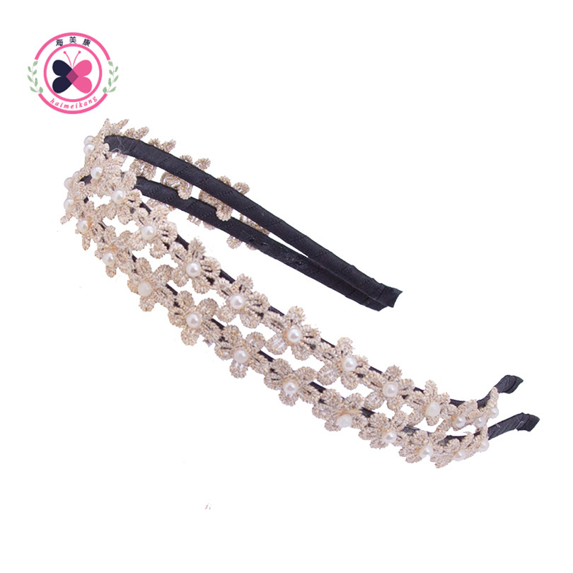 Free Shipping Hot 1Pcs/lot Women Girl Lady Lace Flower Headband Head Piece Hair Band Jewelry  Hair Accessories
