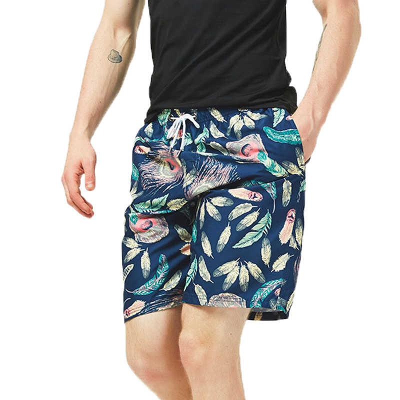 2019 Panduan Cepat Kering Renang Celana Pendek untuk Pria Baju Renang Pria Pakaian Renang Celana Renang Musim Panas Mandi Pantai Surf Boxer brie