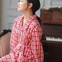 Spring&autumn Silk Robes for Women Bath Robe Print Bathrobe Plus Size Fashion Leisure Sexy Bride Robe Slumber Dress Sleepwear