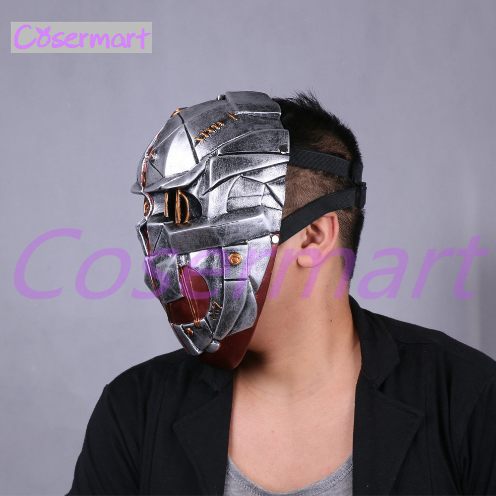 Cos Hot Game Dishonored Helmet Wearable Masks Cosplay Corvo Attano Mask Hard Resin Halloween Party (8)