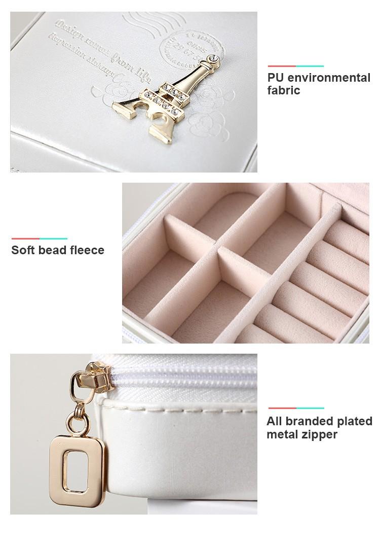 Travel jewelry box small makeup organizer