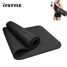 59340649f ITSTYLE 10mm NBR Tapete de Yoga Exercício Extra Grosso Alta Densidade de  Fitness com Alça de