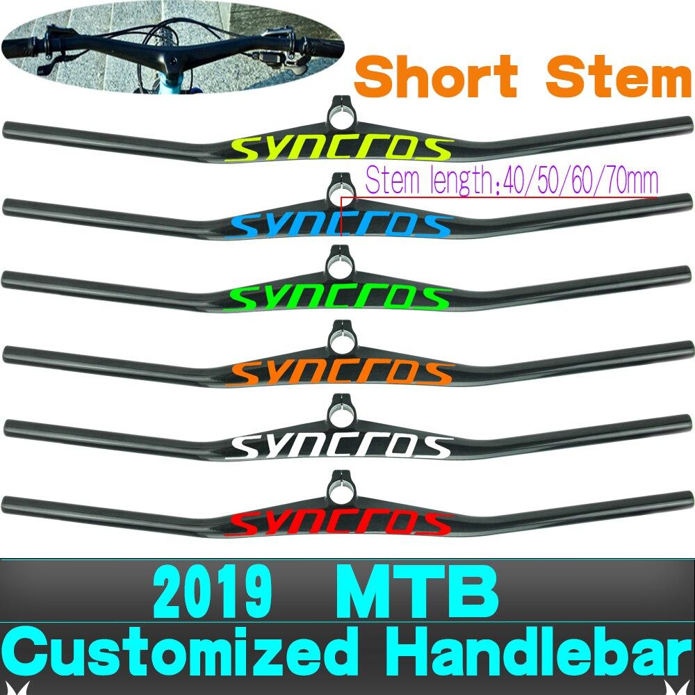 syn UD Custom Champion Short Stem MTB Bicycle Handlebar 6degree One shaped Integrated Bike Handlebar With