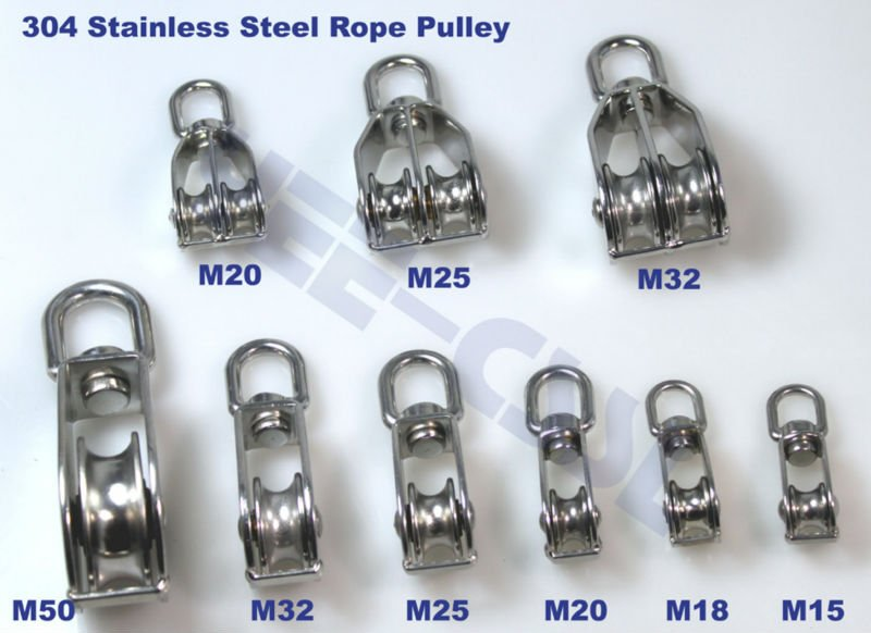 304 Stainless Steel Rope Pulley Pully Rope Pulley