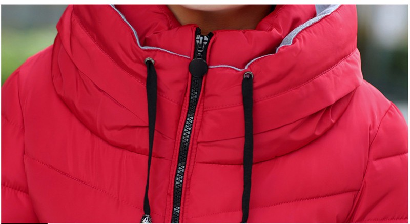 Winter Jacket Women Parkas Thicken Outerwear solid hooded Coats Short 35