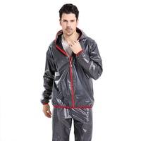 New Men Cycling Sets Waterproof Sunscreen Bicycle Set Safe Reflective Tape Ride Raincoat Pants Cycling Clothes
